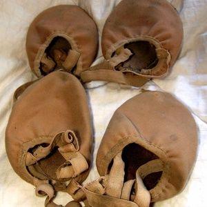 2 pair well worn angelo luzio dance half soles